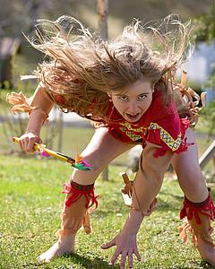 girl doing tribal stance