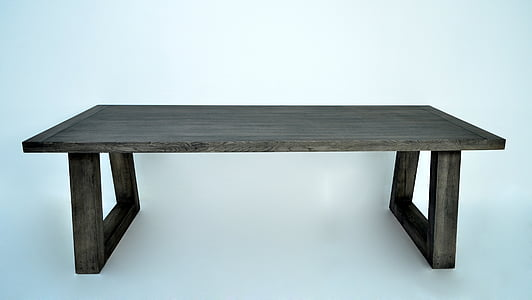 gray wooden table
