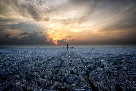 skyline photo of Paris France