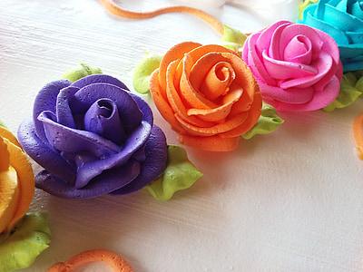 assorted-color flower artworks