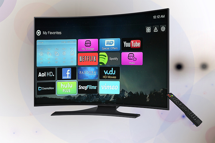curved flat screen television