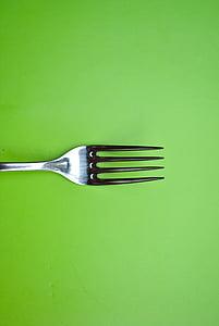 gray stainless steel fork