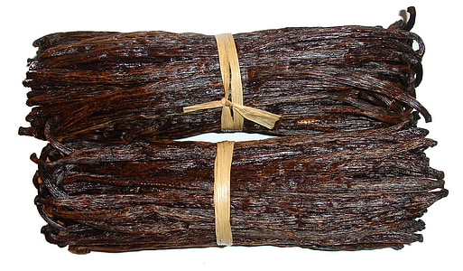 two bundles of brown threads