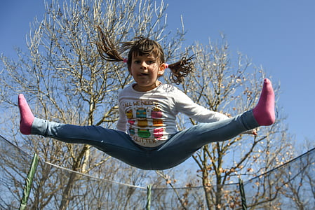 girl on mid air
