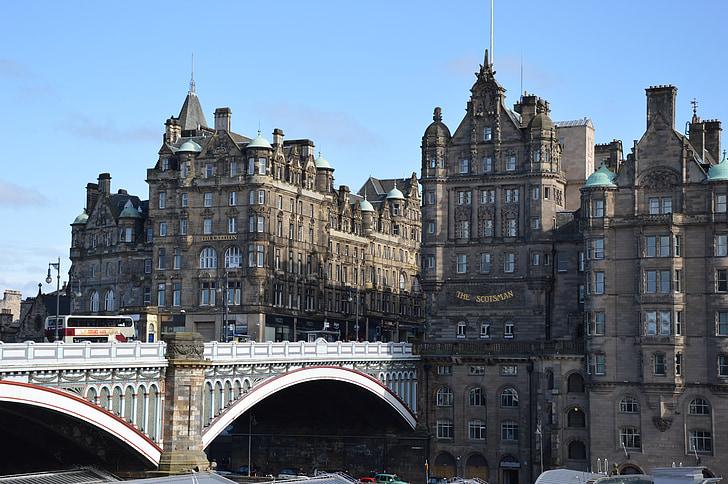 photo of buildings and bridge