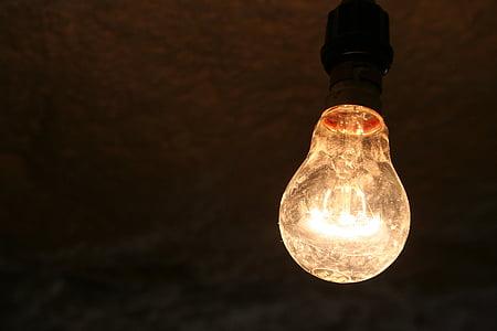 turned on brown pendant lamp