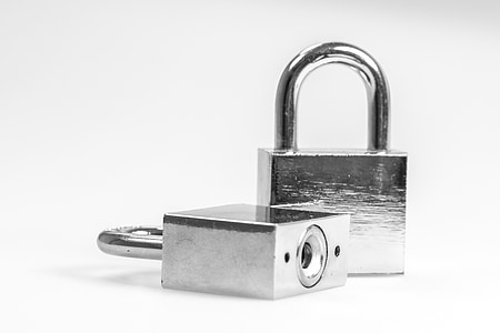 two silver padlocks