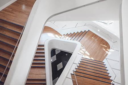 photo of white and brown stair