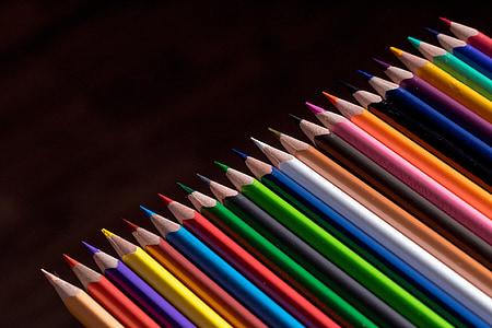 portrait photo of assorted-color pencil lot