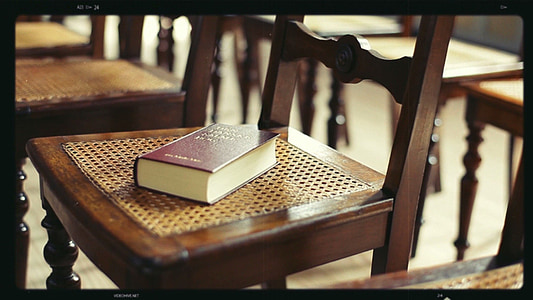 brown book on brown chair