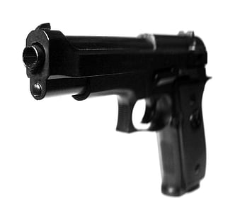 black semi automatic pistol