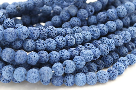 beaded blue accessories
