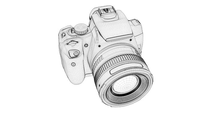 DSLR camera 3D sketch
