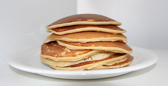 pancakes on white ceramic plate