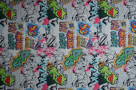 multicolored graffiti wall art