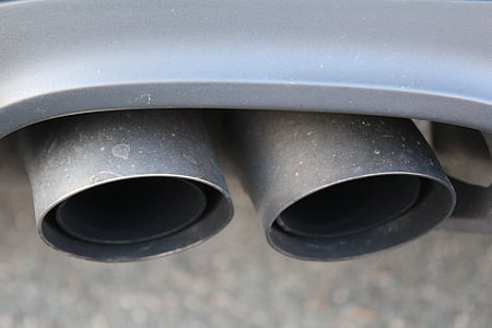 gray vehicle muffler