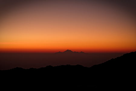peak, heat, fire, hot, nature, mountain