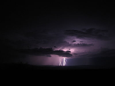 Lightning On Sky 1920x1440 Thunderstorms Over The Horizon