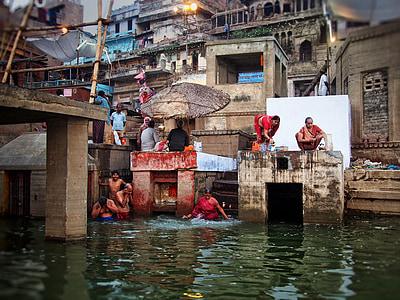 people sitting near of body water
