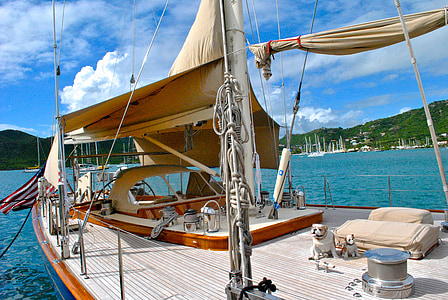 white and brown yacht during daytime