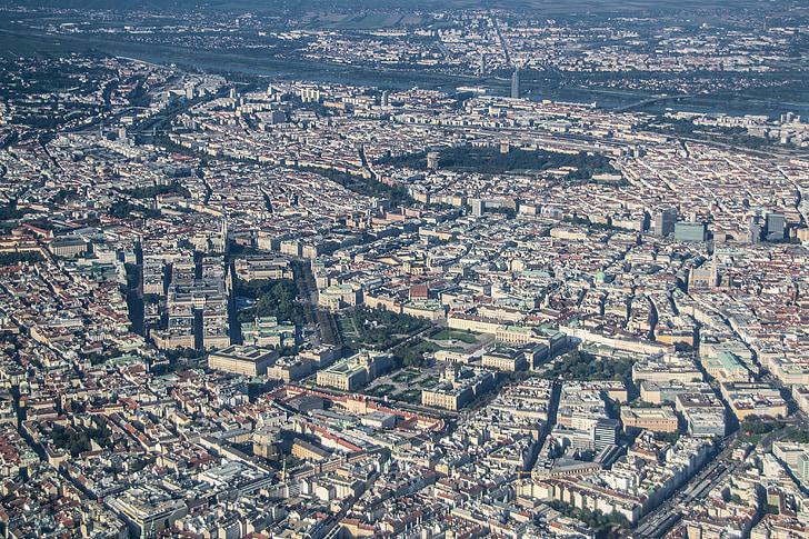 bird's eye view of urban city