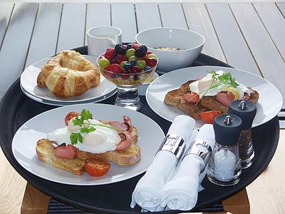 assorted breakfast on plate