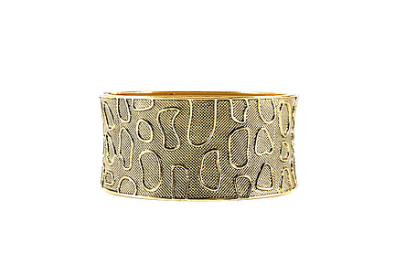 gold-colored bangle