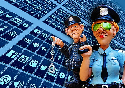 two police illustration