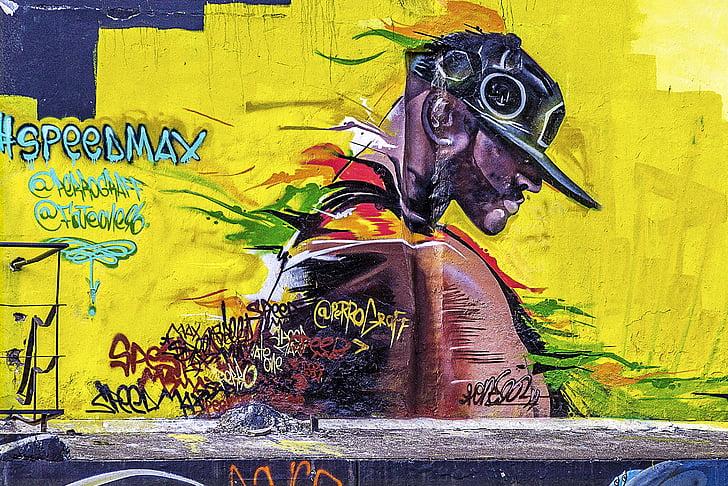Royalty-Free photo: Abstract street wall art | PickPik