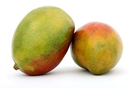 photo of two ripe mango fruits