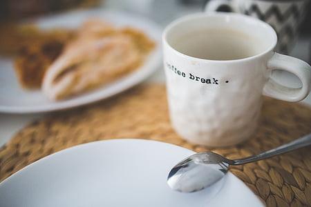 empty mug near plate