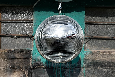 photography of disco ball