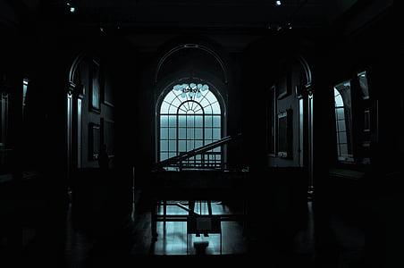 close up photo of dark room