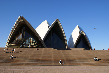 people around Sydney Opera House