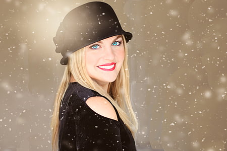 photo of blonde haired woman