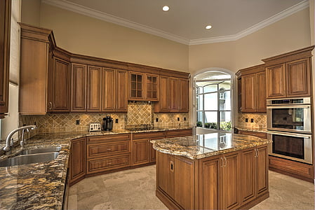 photo of empty kitchen island