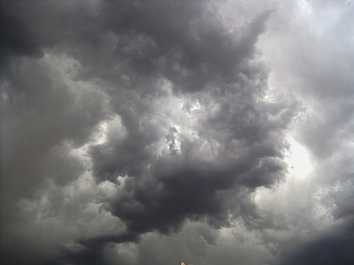 worm's eye view of dramatic sky
