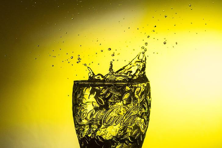 clear Coca-Cola glass