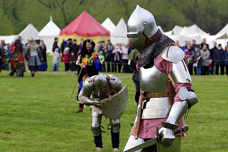 person wearing silver armor