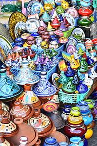 assorted-color ceramic vase lot