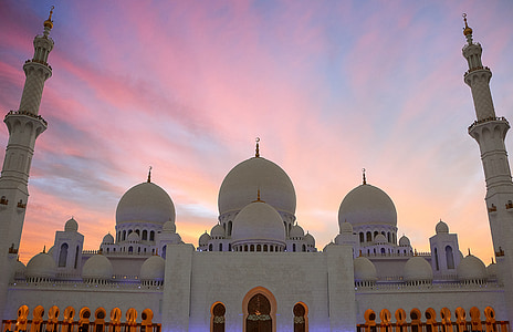 white dome concrete mosque