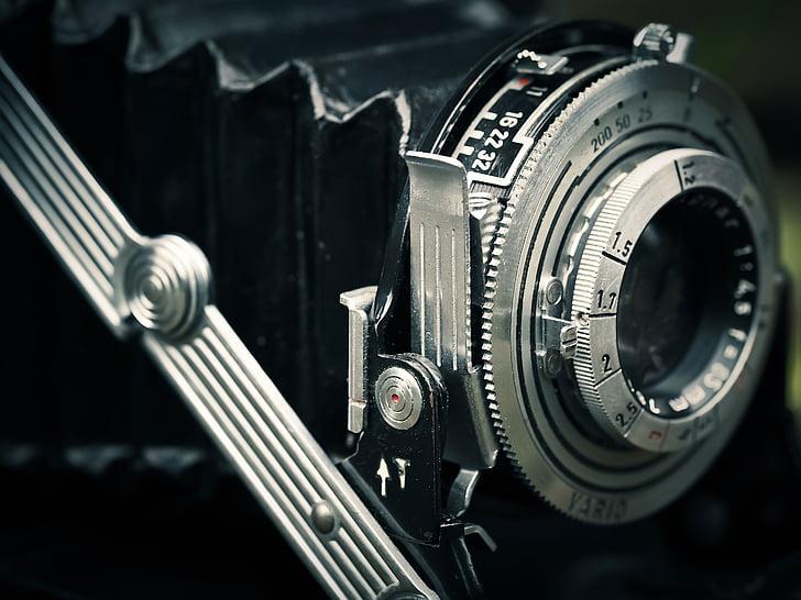close-up photography of land camera