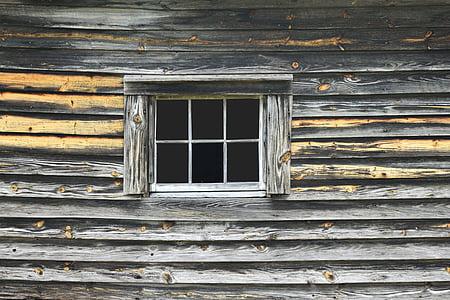 opened gray window