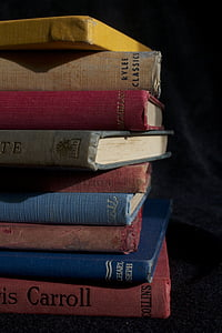 closeup photo of books
