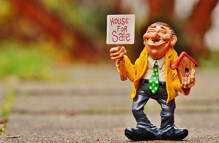 House for sale figurine
