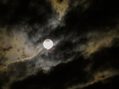 fullmoon with clouds