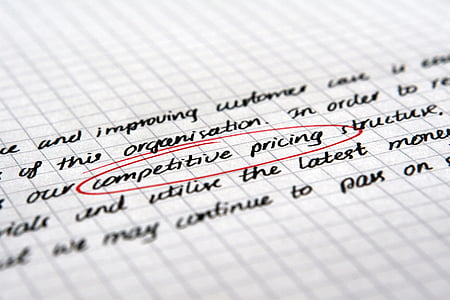 competitive pricing text