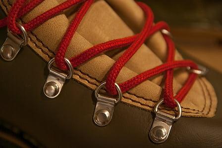 closeup photo of shoe lace