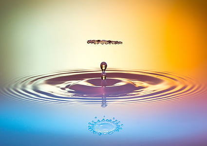 photo of droplet of water