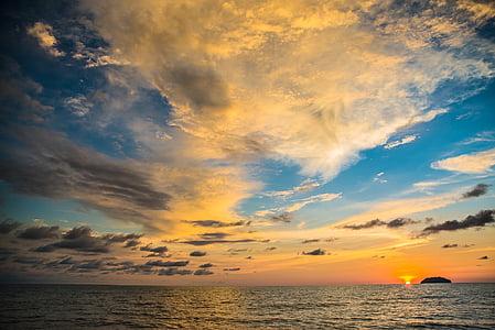 coastal seas during sunset